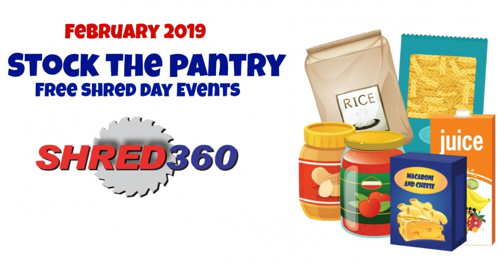 Stock The Pantry Free Shred Day Events - Shred360