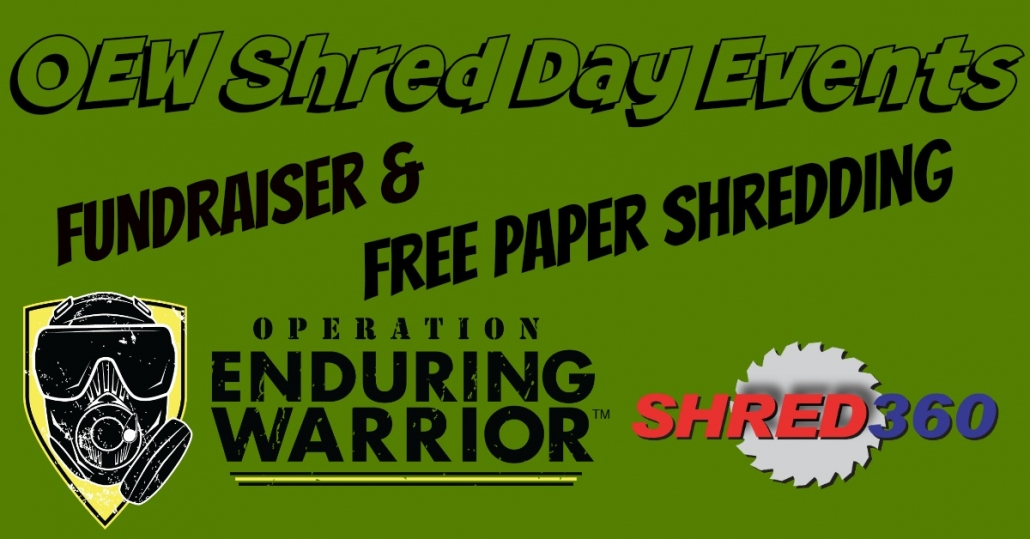 Operation Enduring Warrior - Free Shredding Events - Shred360